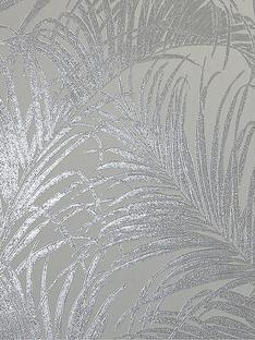 arthouse-kiss-foil-palm-leaf-wallpaper-ndash-silver-grey