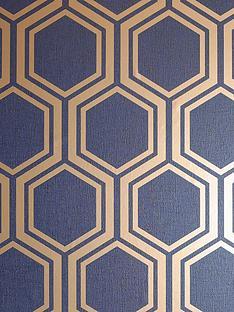 arthouse-luxe-hexagon-navy-amp-gold-wallpaper