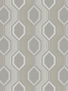 arthouse-hexagon-grey-wallpaper