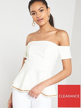 river-island-river-island-peplim-top-with-gold-trim-white