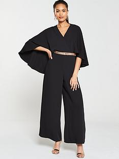 282fe3baf6 River Island River Island Cape Detail Wide Leg Jumpsuit - Black