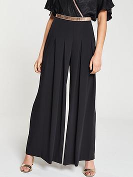 river-island-river-island-pleat-detail-wide-leg-trouser-black