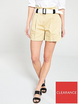 river-island-river-island-colour-contrast-belted-city-shorts-camel