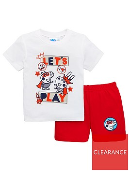 george-pig-boys-shortie-pyjamas-whitered
