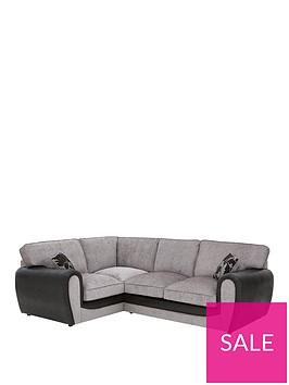 fabric-and-snakeskin-left-hand-corner-group-standard-back-sofa