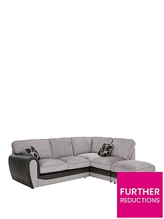 fabric-and-snakeskin-right-hand-corner-chaise-standard-back-sofa-footstool