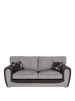 fleur-fabric-and-faux-snakeskin-3-seater-standard-back-sofa