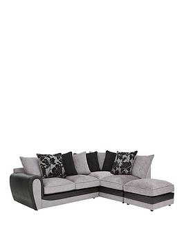 fleur-fabric-and-snakeskin-right-hand-corner-chaise-scatter-back-sofa-footstool