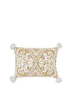monsoon-white-raffia-cushion