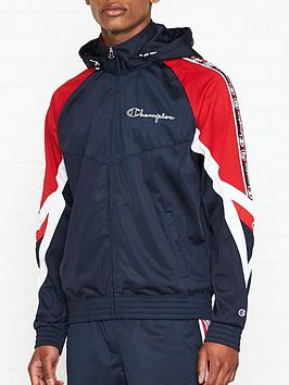 champion-reverse-weave-logo-tape-hooded-track-jacketnbsp--navy