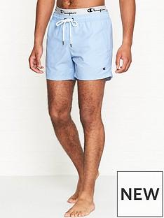 champion-reverse-weave-logo-waistband-swim-shortsnbsp--blue