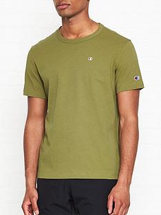 champion-reverse-weave-embroidered-back-logo-t-shirt-khaki