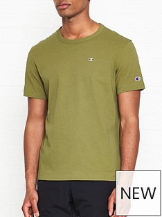 champion-reverse-weave-embroidered-back-logo-t-shirt-khaki