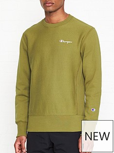 champion-reverse-weave-embroidered-back-logo-sweatshirt-khaki