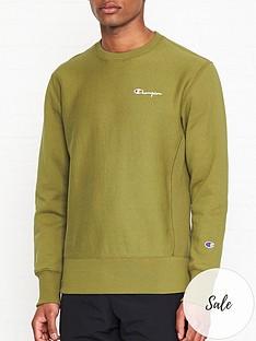 champion-reverse-weave-embroidered-back-logo-sweatshirt-khaki