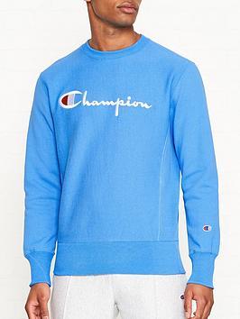 champion-reverse-weave-embroidered-logo-sweatshirt-blue