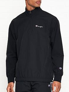 champion-reverse-weave-half-zip-tracksuit-top-black