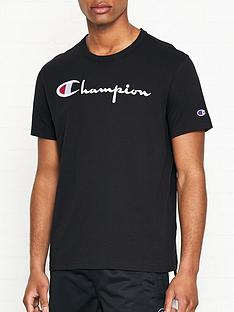 champion-reverse-weave-embroidered-logo-t-shirt-black