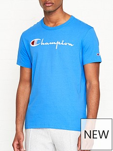 champion-reverse-weave-embroidered-logo-t-shirt-blue