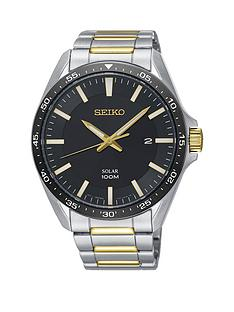 seiko-seiko-solar-black-and-gold-detail-date-dial-two-tone-stainless-steel-bracelet-mens-watch