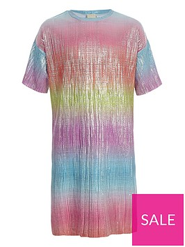 river-island-girls-rainbow-plisse-t-shirt-dress-pink