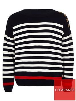river-island-girls-stripe-jumper-navy