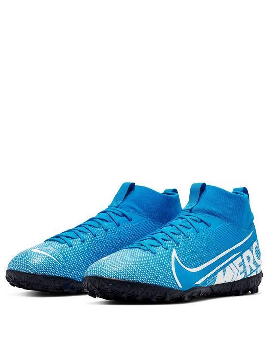 official photos e0060 d8337 Junior Mercurial Superfly 6 Academy Astro Turf Football Boots - Blue