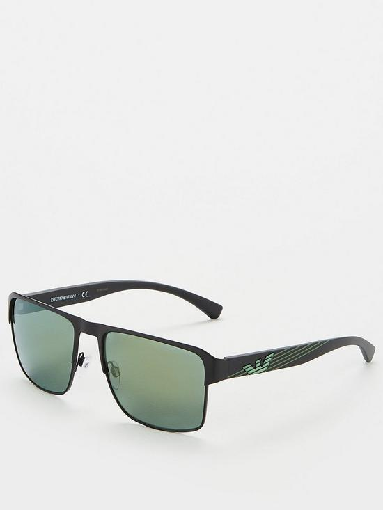 369f4707844d Emporio Armani Square EA2066 Sunglasses - Black   very.co.uk
