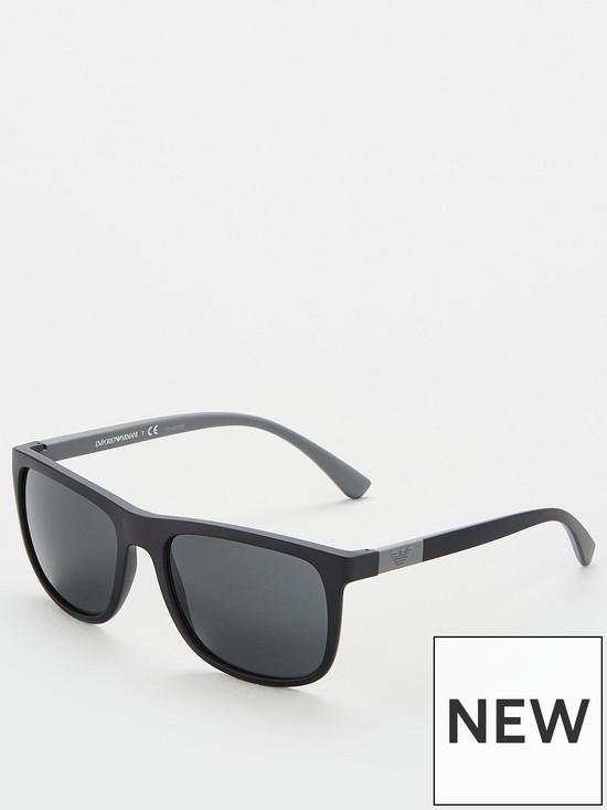 0b155700e79f Emporio Armani Rectangle EA4079 Sunglasses - Black