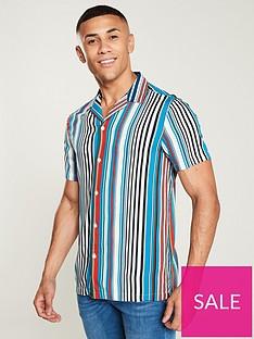 river-island-short-sleeve-multi-stripe-shirt