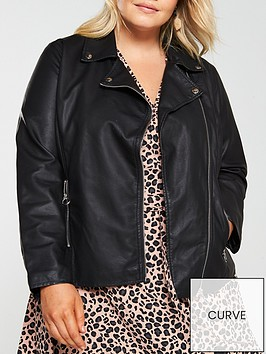 v-by-very-curve-ring-pull-biker-jacket-black