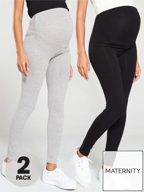 v-by-very-valuenbsp2-pack-maternity-legging-black-grey