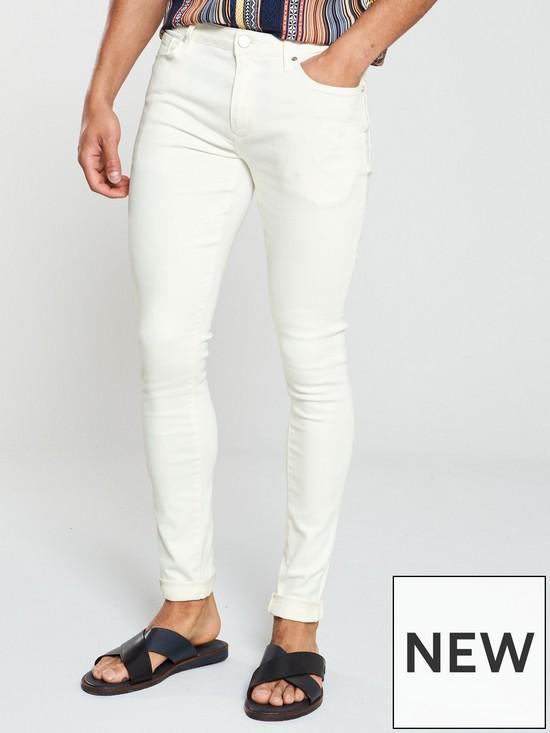 7f36ad98 River Island White Danny super skinny jeans | very.co.uk