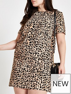 RI Plus Ri Plus Leopard Print Swing Dress- Leopard Print 056ef653a