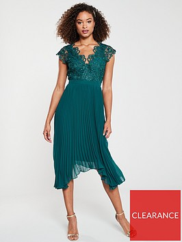 v-by-very-lace-pleated-occasion-dress-green