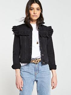 v-by-very-ruffle-shoulder-denim-jacket-black