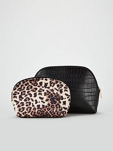 v-by-very-curved-2-pack-cosmetic-bags-blackleopard