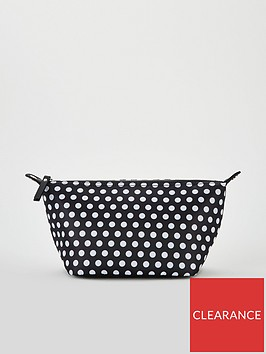 v-by-very-spot-print-cosmetic-bag-black