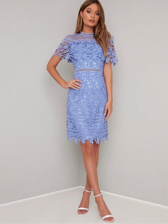 7e223014d2d2 Chi Chi London Chi Chi Willow Dress - Blue | very.co.uk