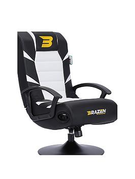 Brazen Pride 2.1 Bluetooth Gaming Chair - Black And White