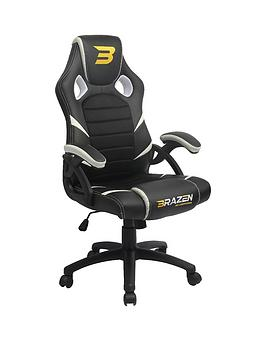 Brazen Puma Pc Gaming Chair - Black And White