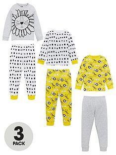 v-by-very-unisex-3-pack-mixed-animal-print-pyjamas-multi