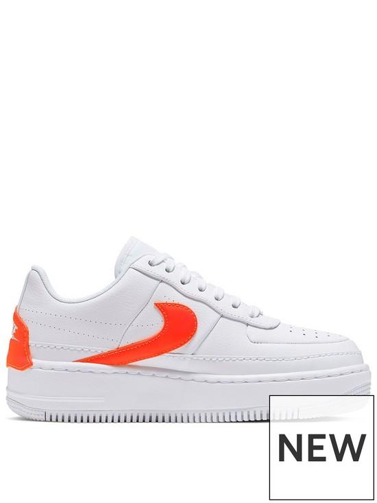4d2d65ed0 Nike Air Force 1 Jester - White/Orange | very.co.uk