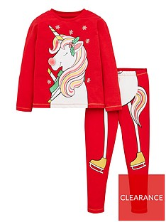 v-by-very-girls-christmas-ice-skating-unicorn-pyjama-set-red