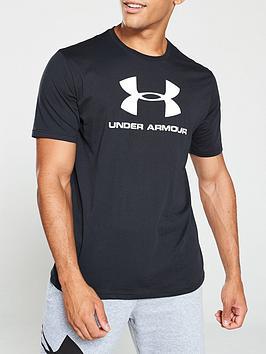 under-armour-trainingnbspsportstyle-logo-short-sleeve-t-shirt-blackwhite