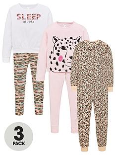 v-by-very-girls-3-pack-animal-print-pyjama-set-multi