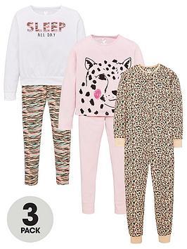 v-by-very-girls-3-pack-animal-print-pyjama-set-multi