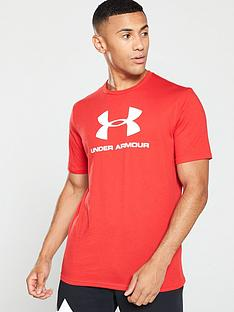 under-armour-sportstyle-logo-short-sleeve-t-shirt-red