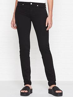 love-moschino-flock-heart-pocket-skinny-jeans-black