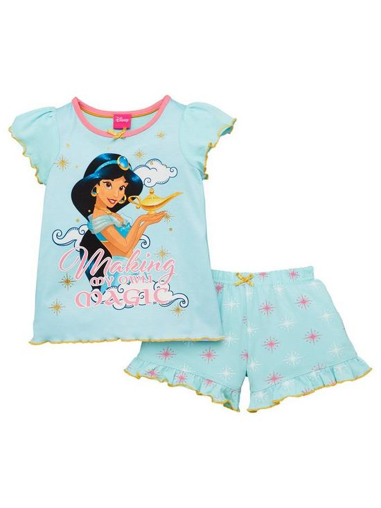 aaf431536 Disney Aladdin Girls Pretty Jasmine Shortie PJs - Multi | very.co.uk